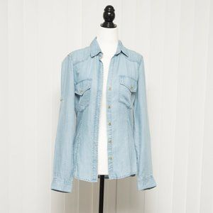 Anthropologie Cloth and Stone Light Chambray Shirt